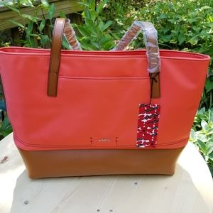 Lodis tote handbag with laptop compartment